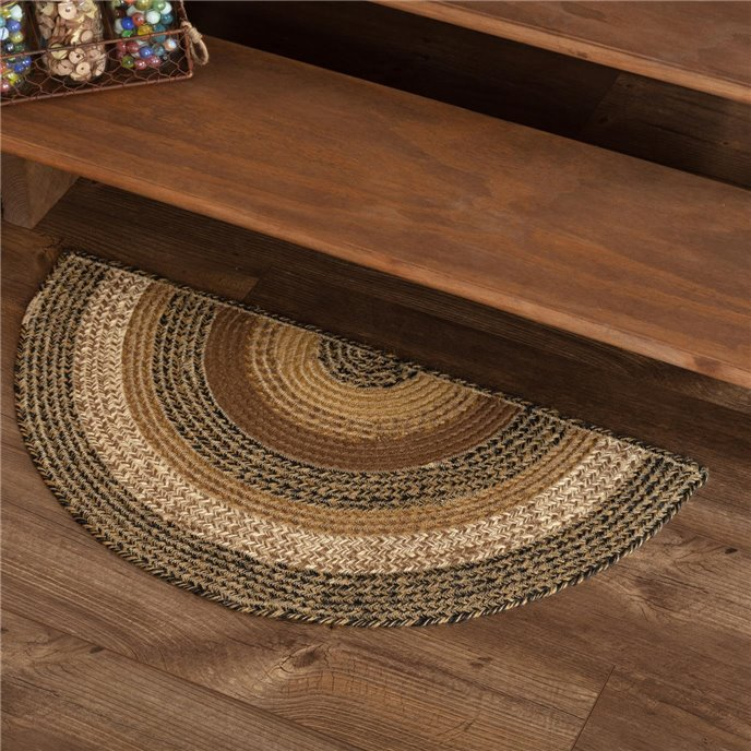 Kettle Grove Jute Rug Half Circle 16.5x33 Thumbnail