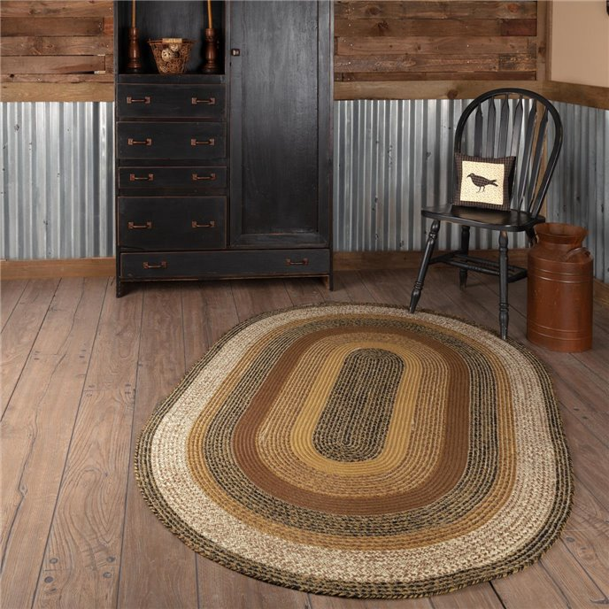 Kettle Grove Jute Rug Oval 48x72 Thumbnail