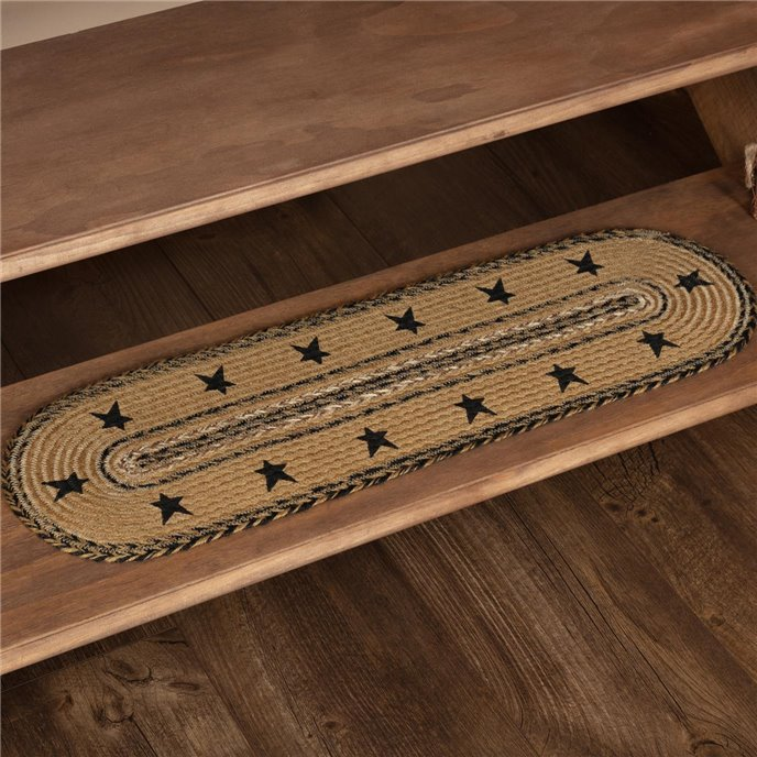 Kettle Grove Jute Stair Tread Stencil Stars Border Oval Latex 8.5x27 Thumbnail