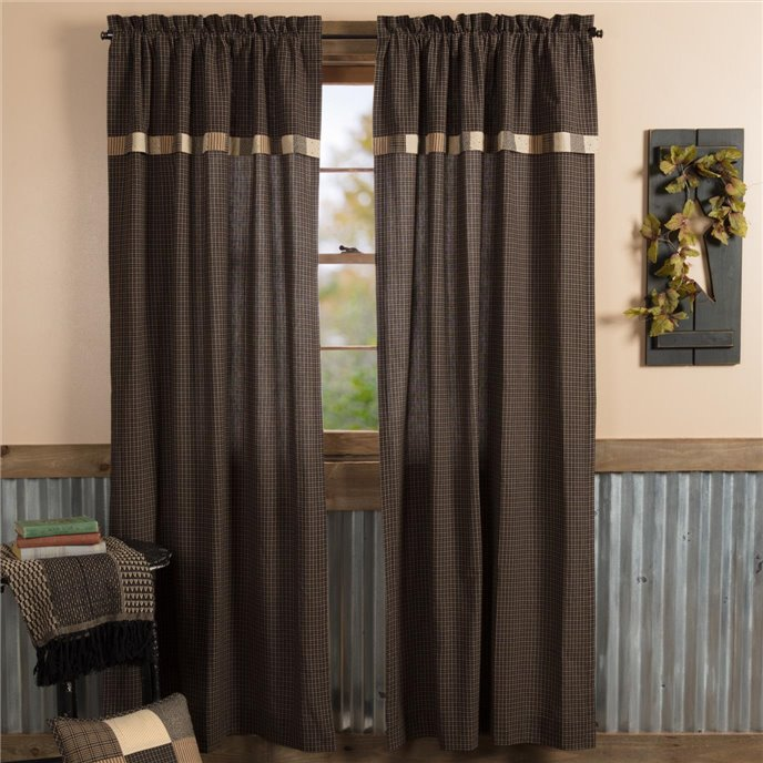Kettle Grove Panel with Attached Valance Block Border Set of 2 84x40 Thumbnail