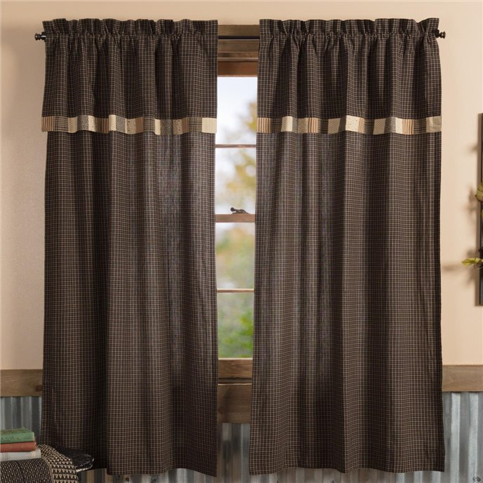 Kettle Grove Short Panel with Attached Valance Block Border Set of 2 63x36 Thumbnail