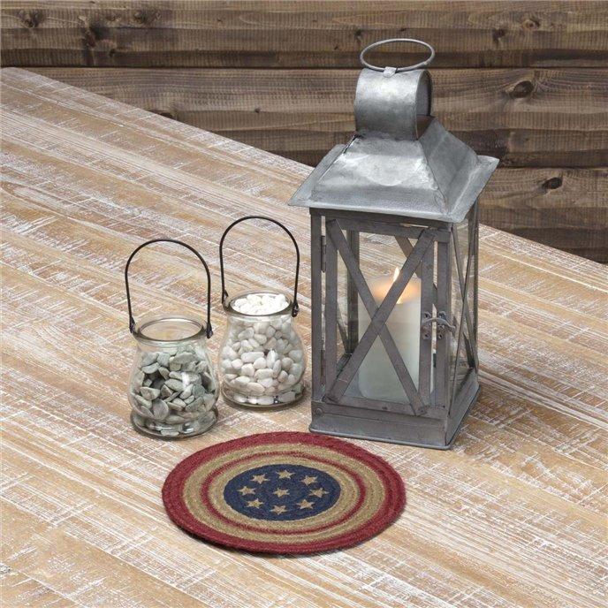 Liberty Stars Flag Jute Trivet 8 Thumbnail