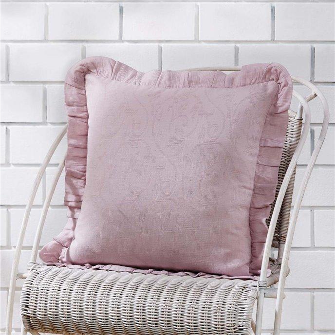 Lilac Ruffle Pillow Cover 18x18 Thumbnail
