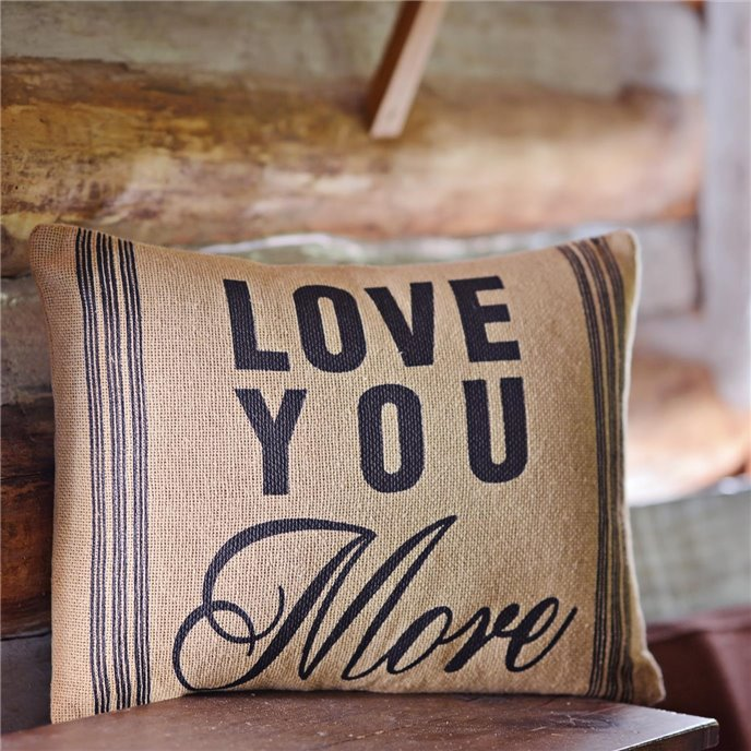 Love You More Pillow 14x18 Thumbnail