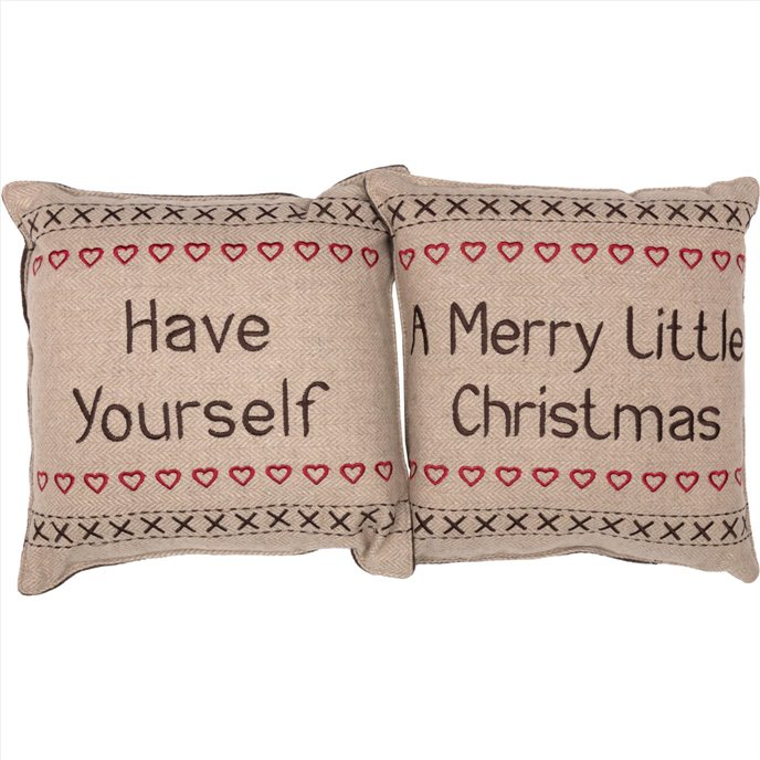 Merry Little Christmas Pillow Have Yourself A Set of 2 12x12 Thumbnail