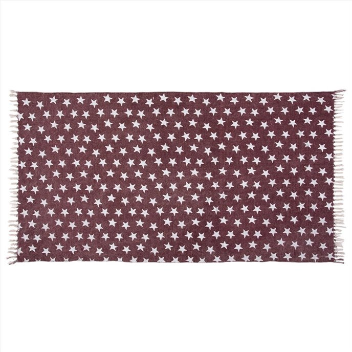 Multi Star Red Cotton Rug Rect 36x60 Thumbnail