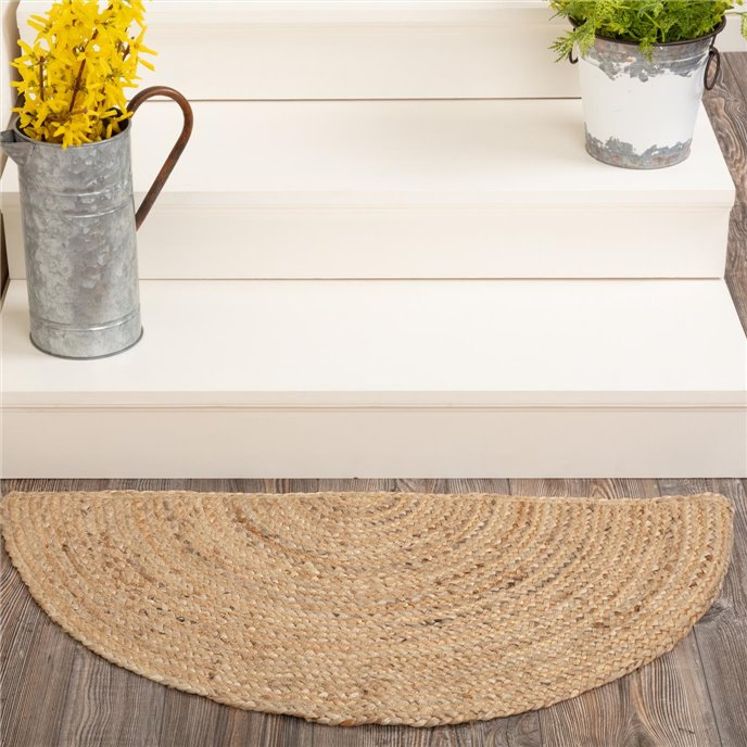 Natural Jute Rug Half Circle 16.5x33 Thumbnail