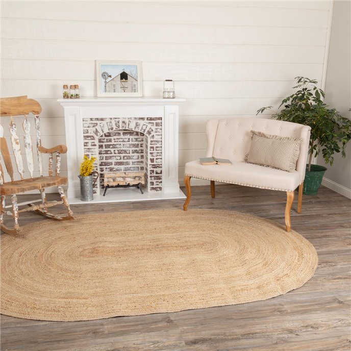 Natural Jute Rug Oval 72x108 Thumbnail