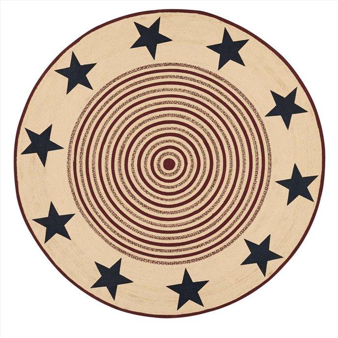 Potomac Jute Rug Stencil Stars 8ft Round Thumbnail