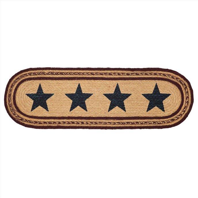 Potomac Jute Stair Tread Stencil Stars Oval Latex 8.5x27 Thumbnail