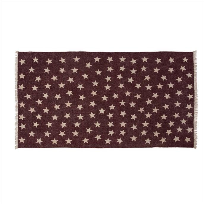 Antique Red Star Rug Rect 27x48 Thumbnail