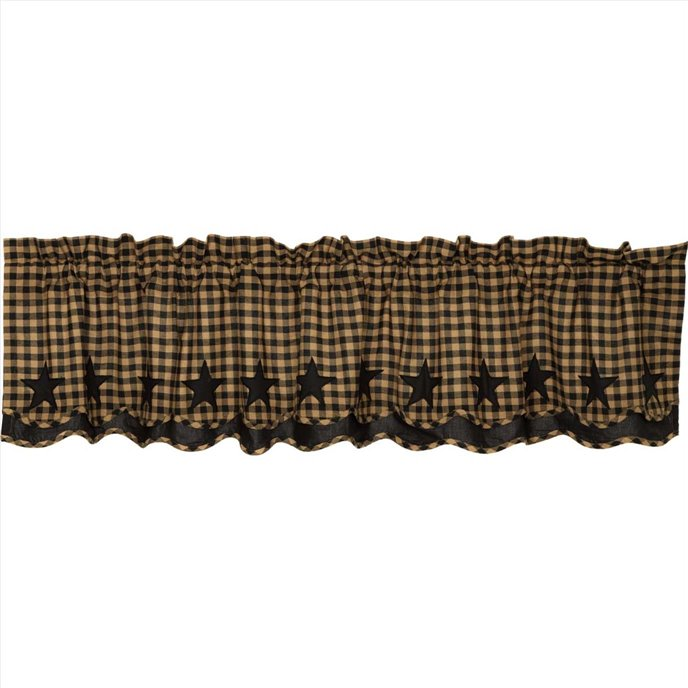 Black Star Scalloped Layered Valance 16x72 Thumbnail