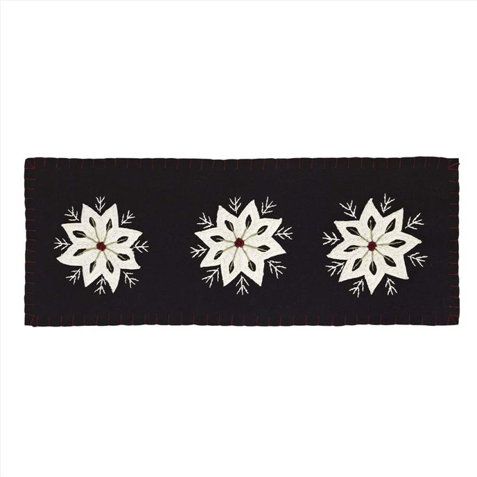 Christmas Snowflake Runner Felt Embroidery 8x24 Thumbnail