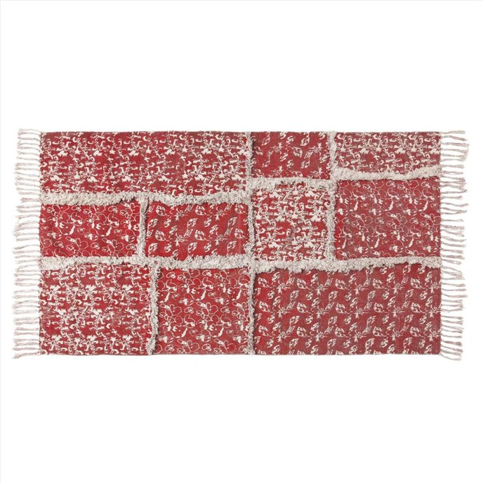 Isabella Patchwork Stenciled Rug 27x48 Thumbnail