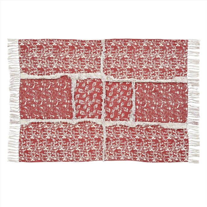 Isabella Patchwork Stenciled Rug 36x60 Thumbnail
