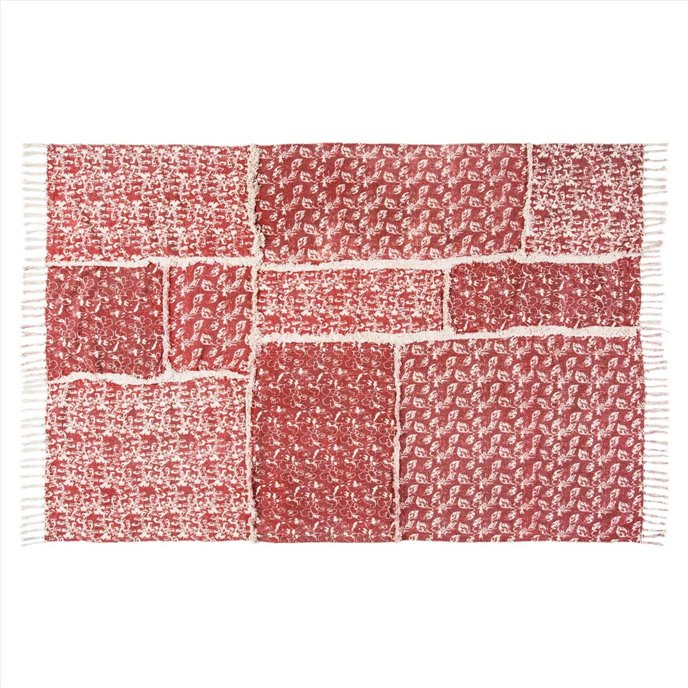 Isabella Patchwork Stenciled Rug 48x72 Thumbnail