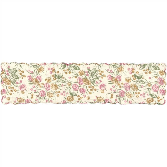 Madeline Floral Quilted Runner 13x48 Thumbnail