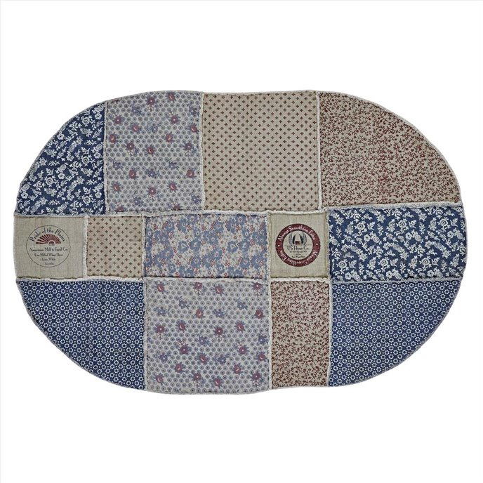 Millie Patchwork Rug Oval 60x90 Thumbnail
