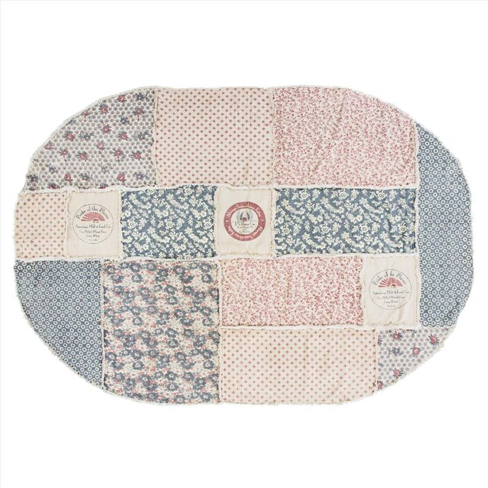 Millie Patchwork Rug Oval 70x100 Thumbnail