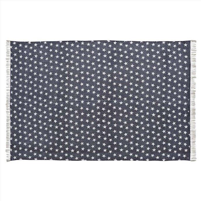 Multi Star Navy Cotton Rug Rect 60x96 Thumbnail