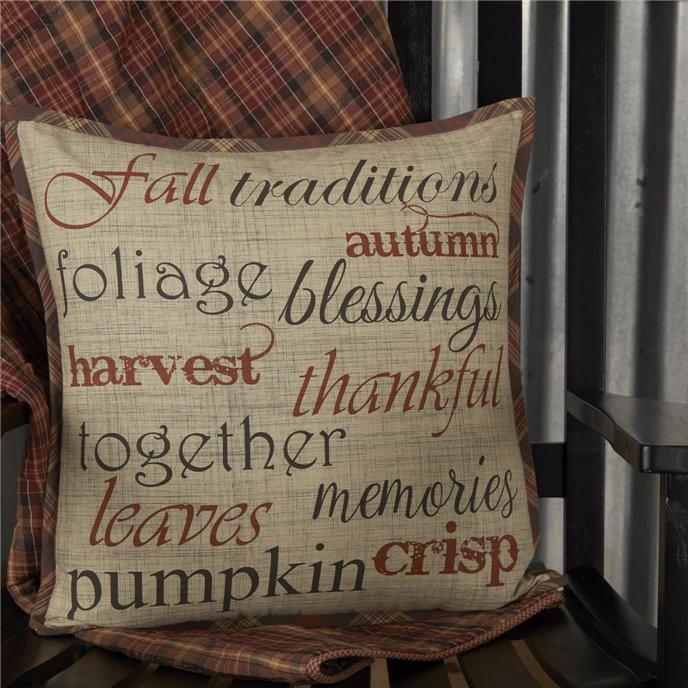 Abilene Harvest Stenciled Pillow 18x18 Thumbnail