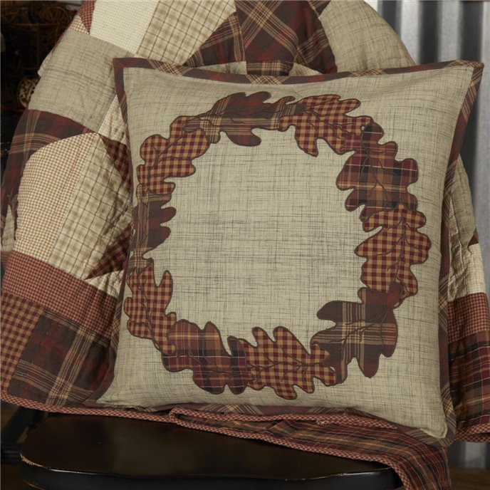 Abilene Harvest Wreath Pillow 18x18 Thumbnail
