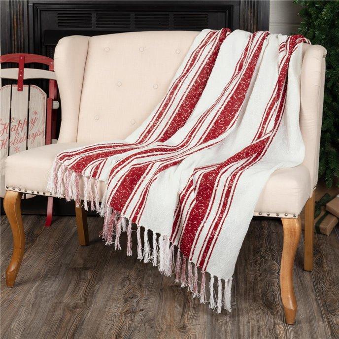 Antique Red Stripe Woven Throw 60x50 Thumbnail