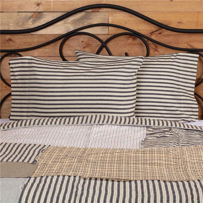 Ashmont Ticking Stripe Standard Pillow Case Set of 2 21x30 Thumbnail