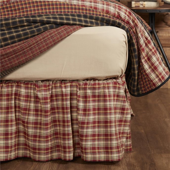 Beckham Plaid Twin Bed Skirt 39x76x16 Thumbnail
