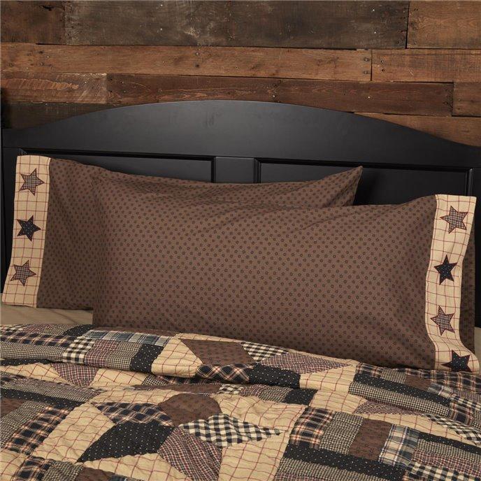 Bingham Star King Pillow Case Set of 2 21x40 Thumbnail