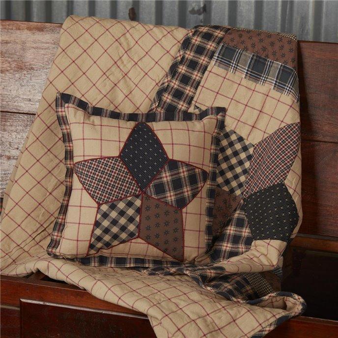 Bingham Star Patch Pillow 10x10 Thumbnail