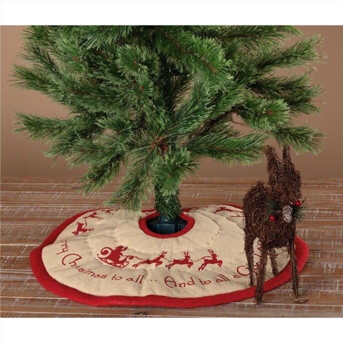 Burlap Santa Mini Tree Skirt 21 Thumbnail