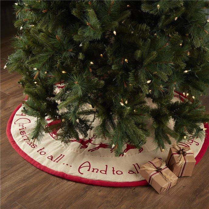 Burlap Santa Tree Skirt 48 Thumbnail