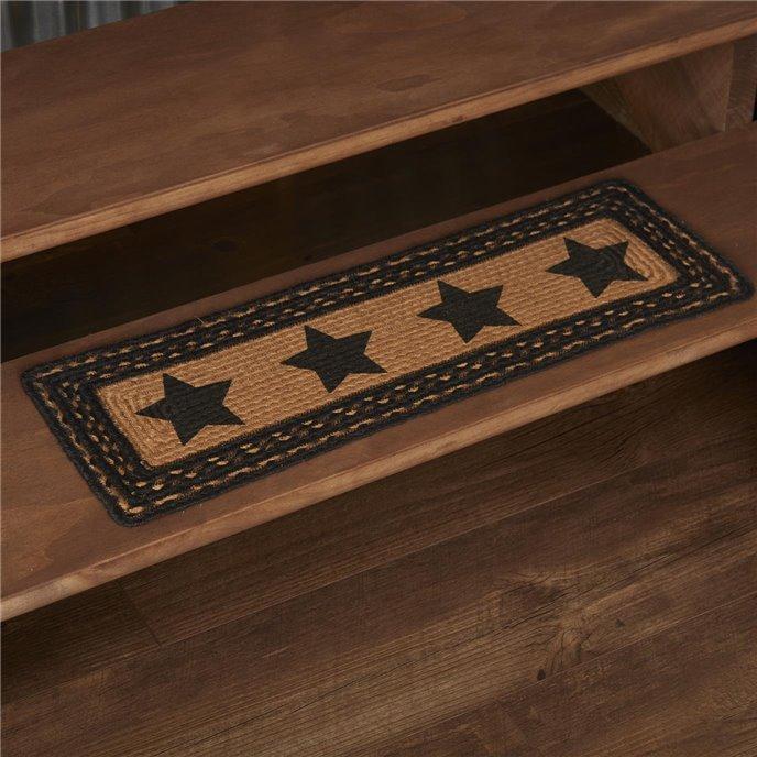 Farmhouse Jute Stair Tread Stencil Stars Rect Latex 8.5x27 Thumbnail