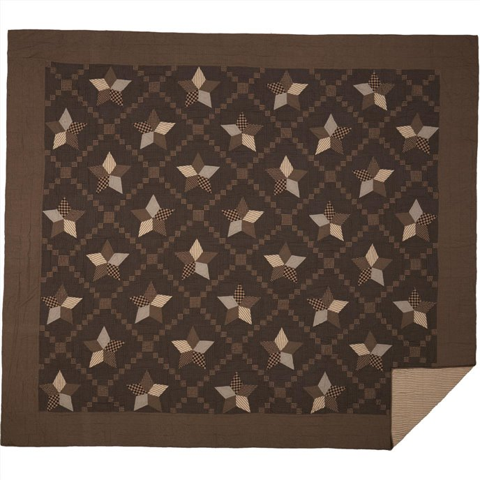 Farmhouse Star California King Quilt 130Wx115L Thumbnail