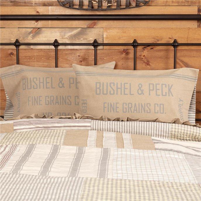 Grace Feed Sack Standard Pillow Case Set of 2 21x30 Thumbnail