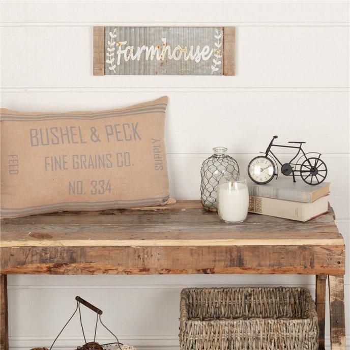 Grace Grain Sack Pillow 14x22 Thumbnail