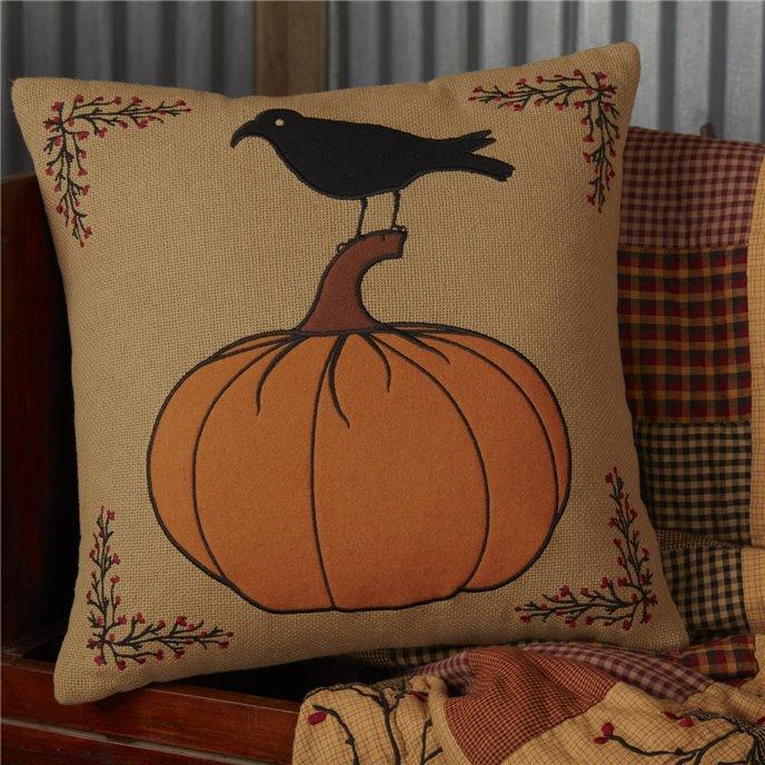 Heritage Farms Pumpkin and Crow Pillow 18x18 Thumbnail