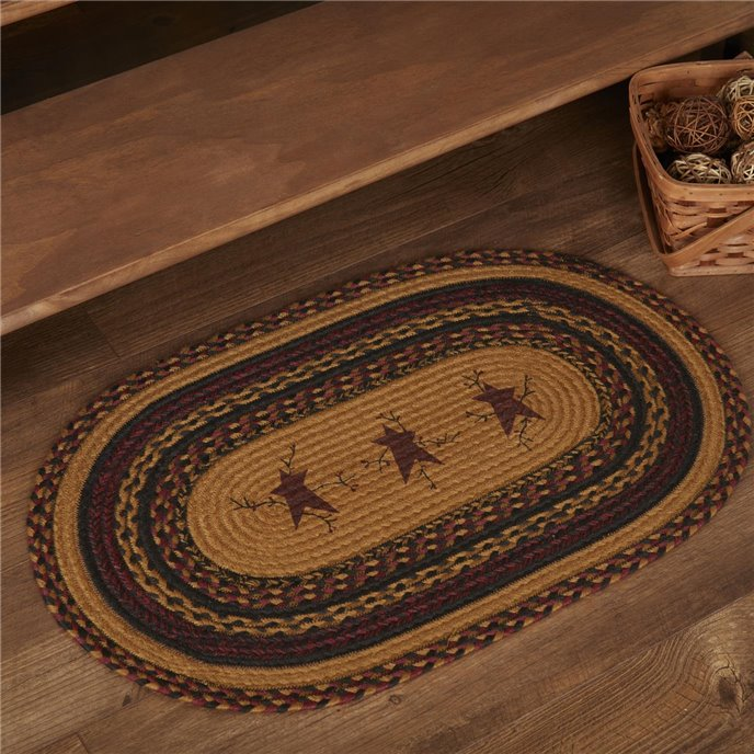 Heritage Farms Star and Pip Jute Rug Oval 20x30 Thumbnail