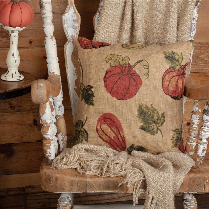 Jute Burlap Natural Harvest Garden Pillow 18x18 Thumbnail