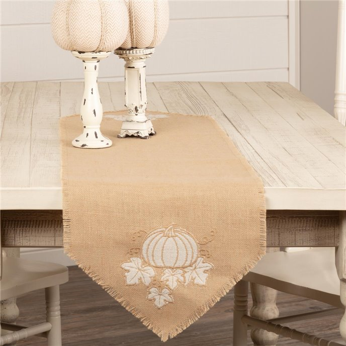 Jute Burlap Natural Pumpkin Runner 13x48 Thumbnail