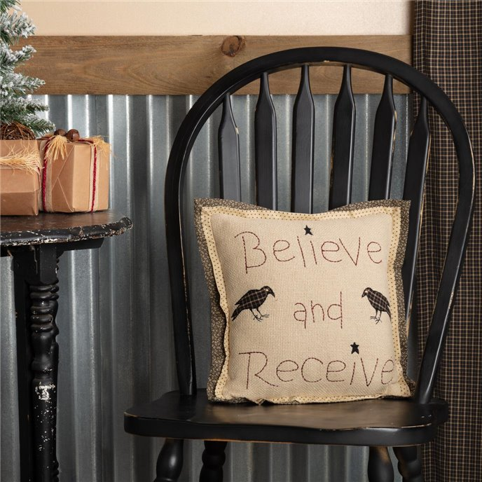 Kettle Grove Believe and Receive Pillow 12x12 Thumbnail
