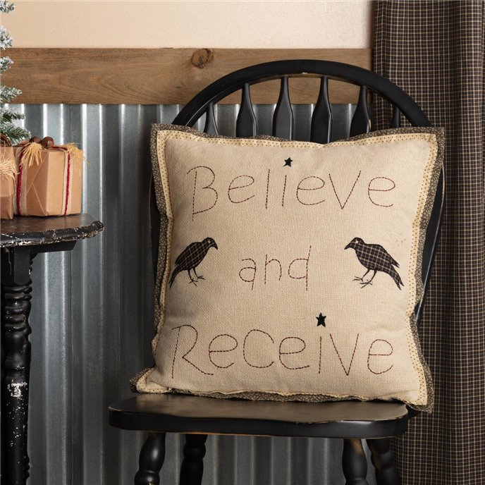 Kettle Grove Believe and Receive Pillow 18x18 Thumbnail