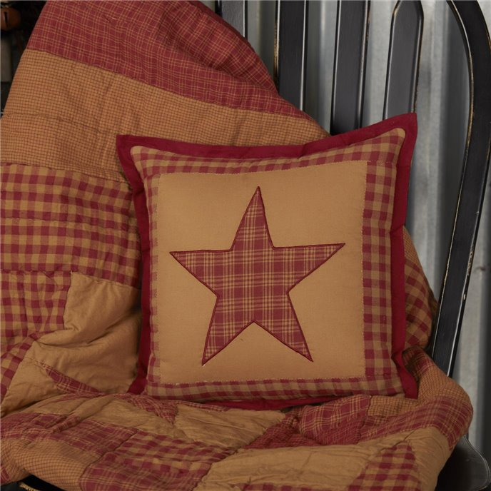 Ninepatch Star Quilted Pillow 12x12 Thumbnail