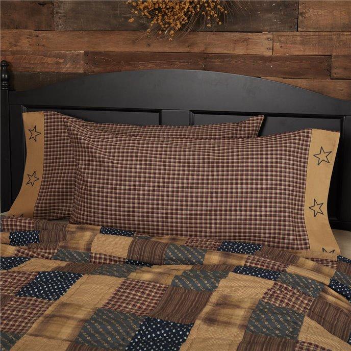 Patriotic Patch King Pillow Case Set of 2 21x40 Thumbnail