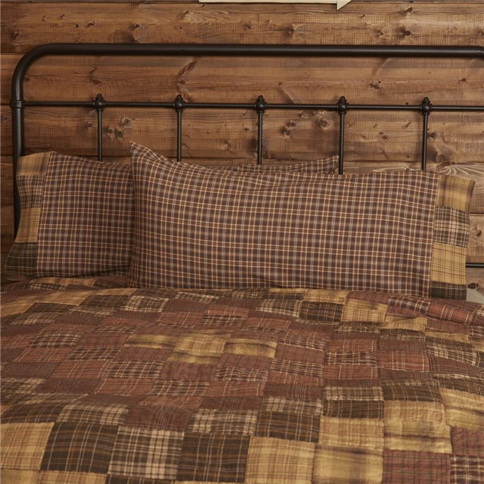 Prescott King Pillow Case Block Border Set of 2 21x40 Thumbnail