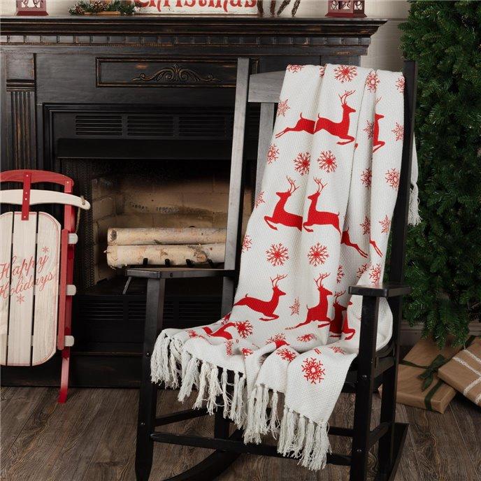 Reindeer Dash Woven Throw 60x50 Thumbnail