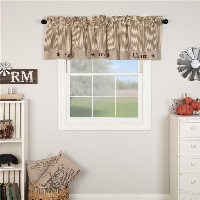 Sawyer Mill Charcoal Gather Valance 20x90 Thumbnail