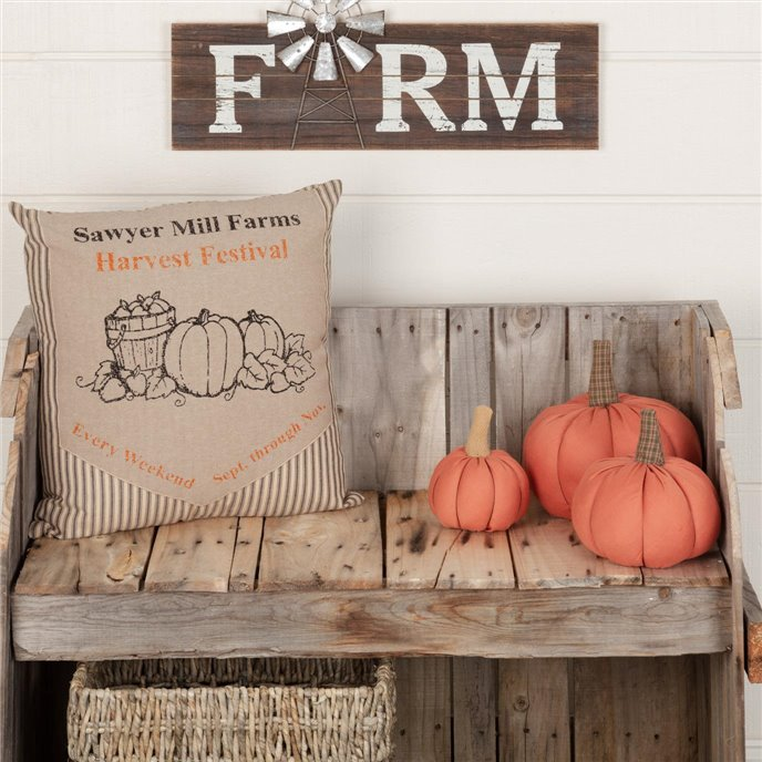 Sawyer Mill Charcoal Harvest Festival Pillow 18x18 Thumbnail
