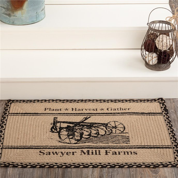 Sawyer Mill Charcoal Plow Jute Rug Rect 20x30 Thumbnail